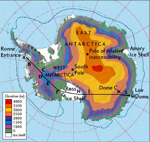 Antarctic Detail Map