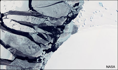 Crumbling Ice Sheet